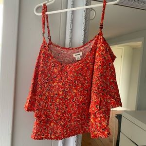 Tops - Garage cropped floral top